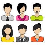 Concetto degli avatar di affari royalty illustrazione gratis