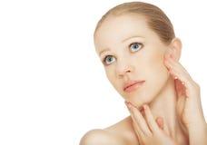 Concetto degli effetti cosmetici, Immagini Stock