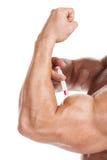 Concetto degli steroidi. Fotografia Stock Libera da Diritti