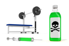 Concetto degli steroidi anabolici Fotografia Stock