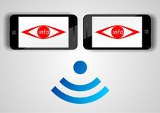 Concetto dei apps della spia del telefono cellulare Fotografia Stock