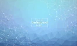 Concetto dei collegamenti Fondo della rete di vettore per la presentazione di affari EPS10 Dello spazio poli fondo scuro poligona illustrazione vettoriale