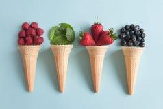 Concetto dei coni di gelato Fotografie Stock