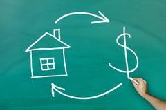Concetto dei contanti e di Real Estate Immagini Stock