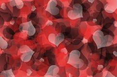 Concetto dei cuori di Valentine Day sui precedenti di pietra scuri immagini stock libere da diritti