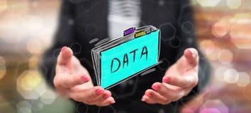 Concetto dei dati illustrazione di stock