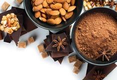 Concetto dei dolci isolato Immagini Stock Libere da Diritti