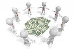 concetto dei dollari 3D Fotografia Stock Libera da Diritti
