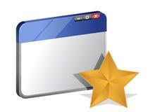 Concetto dei favoriti del browser Immagini Stock