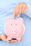 Concetto dei fondi Piggybank Fotografie Stock