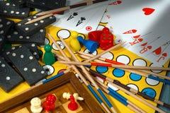 Concetto dei giochi da tavolo Fotografie Stock Libere da Diritti