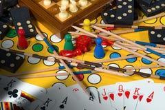 Concetto dei giochi da tavolo Fotografia Stock