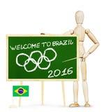 Concetto dei giochi olimpici nel Brasile Fotografie Stock Libere da Diritti