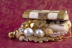 Concetto dei gioielli dell'oro Immagini Stock Libere da Diritti