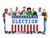 Concetto dei grafici del referendum di democrazia di voto di elezione fotografia stock