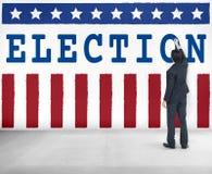 Concetto dei grafici del referendum di democrazia di voto di elezione immagine stock libera da diritti