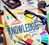 Concetto dei grafici di grado di corso di scuola di conoscenza Fotografia Stock