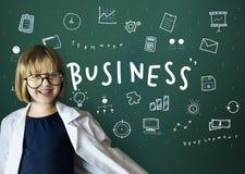 Concetto dei grafici di pianificazione di strategia delle icone di affari Immagine Stock