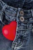 Concetto dei jeans. Fotografia Stock