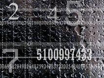 Concetto dei numeri Fotografia Stock