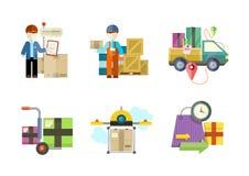 Concetto dei servizi nelle merci di consegna illustrazione di stock