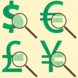 Concetto dei soldi con valuta del mondo royalty illustrazione gratis