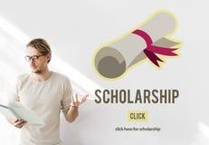 Concetto dei soldi di prestito di insegnamento superiore dell'aiuto della borsa di studio Fotografia Stock