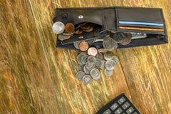 Concetto dei soldi di risparmio in crisi e finanze domestiche, finanza Immagini Stock Libere da Diritti