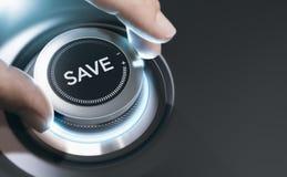 Concetto dei soldi di risparmio, fondo dell'esperto finanziario Immagine Stock