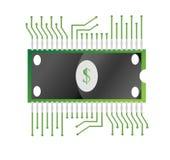 Concetto dei soldi elettronici Fotografia Stock Libera da Diritti