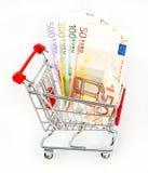 Concetto dei soldi. euro contanti Fotografia Stock Libera da Diritti