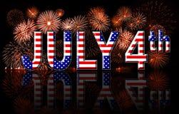 Concetto del 4 luglio di festa dell'indipendenza Fotografia Stock