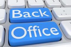 Concetto del back office Immagini Stock