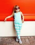 Concetto del bambino di modo - bambino alla moda della bambina Immagini Stock