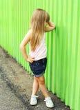 Concetto del bambino di modo - bambino alla moda della bambina Fotografia Stock Libera da Diritti