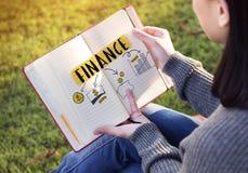 Concetto del beneficio di economia di investimento dei soldi di finanza Immagine Stock