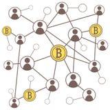 Concetto del bitcoin di Cryptocurrency Fotografia Stock Libera da Diritti
