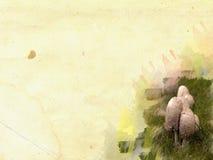 Concetto del blocco per grafici del fungo sulla priorità bassa del grunge Fotografia Stock
