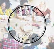 Concetto del bollo del distintivo di marca di alta qualità migliore Immagini Stock Libere da Diritti