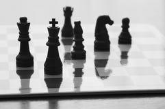 Concetto del bordo del gioco di scacchi fotografia stock libera da diritti