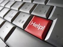 Concetto del bottone di chiave di aiuto Fotografia Stock