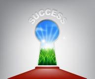 Concetto del buco della serratura di successo Immagine Stock
