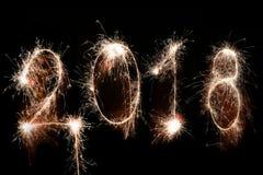 Concetto 2018 del buon anno Fotografia Stock