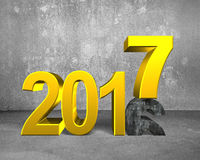 2016 - 2017, concetto del buon anno Fotografie Stock Libere da Diritti