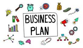 Concetto del business plan illustrazione di stock