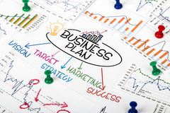 Concetto del business plan immagini stock