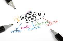 Concetto del business plan Fotografia Stock
