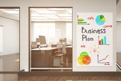 Concetto del business plan Fotografia Stock Libera da Diritti