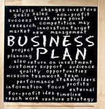 Concetto del business plan scritto sulla lavagna Fotografia Stock Libera da Diritti