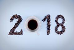 Concetto 2018 del caffè Fotografia Stock Libera da Diritti